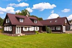 Tradycyjny litwinu dom w Trakai, Lithuania. obrazy royalty free