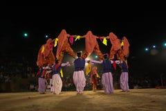 Tradycyjny ludowy taniec, India Obrazy Royalty Free