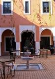 tradycyjny Marrakech podwórzowy hotelowy riad Zdjęcie Stock