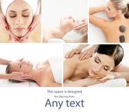 Tradycyjny masażu i opieki zdrowotnej traktowanie w zdroju Potomstw, pięknych i zdrowych dziewczyny ma rekreacyjną terapię, zdjęcia royalty free