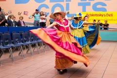 Tradycyjny meksykański taniec indoors Obrazy Stock