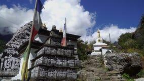Tradycyjny modlitwa kamień w Nepal zbiory wideo