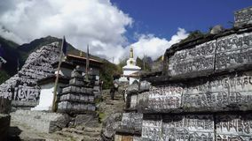 Tradycyjny modlitwa kamień w Nepal zdjęcie wideo