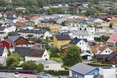 Tradycyjny norweg barwiący domy Ovre Ardal wioska visitant zdjęcia royalty free