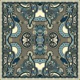 Tradycyjny ornamentacyjny kwiecisty Paisley bandanna Zdjęcie Stock