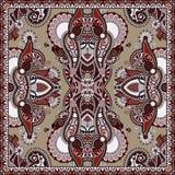 Tradycyjny ornamentacyjny kwiecisty Paisley bandanna Fotografia Stock