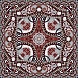 Tradycyjny ornamentacyjny kwiecisty Paisley bandanna Obrazy Stock