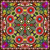Tradycyjny ornamentacyjny kwiecisty Paisley bandanna Zdjęcie Royalty Free