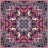 Tradycyjny ornamentacyjny kwiecisty Paisley bandanna Fotografia Royalty Free