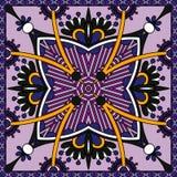 Tradycyjny ornamentacyjny kwiecisty Paisley bandanna Obraz Stock