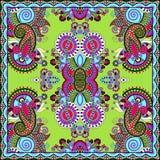 Tradycyjny ornamentacyjny kwiecisty Paisley bandanna Obraz Royalty Free
