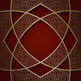 Tradycyjny ornamentacyjny tło z abstrakcjonistyczną w zawiły sposób ramą Obrazy Stock