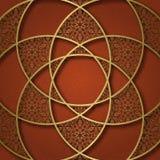 Tradycyjny ornamentacyjny tło z kółkową mandala formą fra Obraz Royalty Free