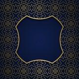 Tradycyjny ornamentacyjny tło z kwadrat kształtującą ramą Zdjęcie Stock