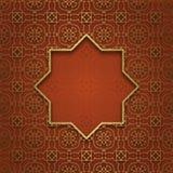 Tradycyjny ornamentacyjny tło z osiem wskazującą ramą Obrazy Royalty Free