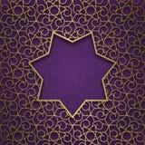 Tradycyjny ornamentacyjny tło z siedem wskazującą ramą Obraz Stock