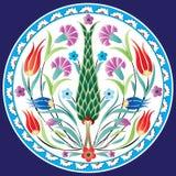 Tradycyjny Osmański kwiatu projekt Zdjęcie Stock