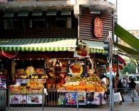 Tradycyjny Owocowy sklep w Hong Kong zdjęcia royalty free