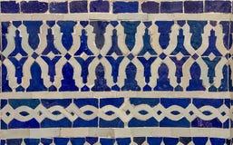 Tradycyjny ozdobny marokańczyka Zellige płytki wzór w riad Fotografia Stock