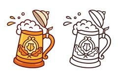 Tradycyjny piwny stein royalty ilustracja