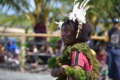 Tradycyjny plemienny taniec przy maskowym festiwalem Obraz Royalty Free