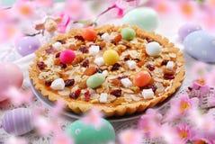Tradycyjny połysku Easter torta mazurek obraz royalty free