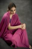 tradycyjny portreta kostiumowy indyjski styl Zdjęcia Stock