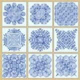 Tradycyjny portuguese tafluje azulejos ustawiających ilustracji