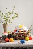 Tradycyjny prawosławny Wielkanocny Paschalny jedzenie obrazy royalty free
