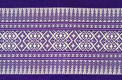 Tradycyjny purpurowy Tajlandzki tkanina wzór jako tło zdjęcie royalty free