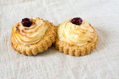 Tradycyjny Rosyjski ciasta vatrushka lub sochnja, domowej roboty otwarci paszteciki z chałupa serem, round babeczki, cheesecake,  fotografia royalty free