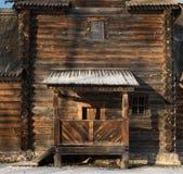 Tradycyjny Rosyjski drewniany kościół rezurekcja od wioski Patakino Obrazy Stock
