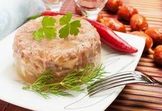 Tradycyjny Rosyjski jedzenie. Aspic mięsa galareta zdjęcia royalty free