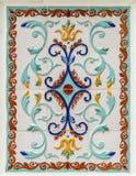 Tradycyjny rosyjski kwiecisty ornament na płytkach Obrazy Royalty Free