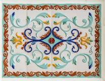 Tradycyjny rosyjski kwiecisty ornament na płytkach Obrazy Stock