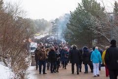 Tradycyjny rybi festiwal Palanga wytapia 2018, Lithuania Obraz Royalty Free