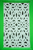 Tradycyjny rzemiosło wzór przy Abidin meczetem w Kuala Terengganu, Malezja Fotografia Stock