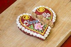Tradycyjny Słoweński piernikowy serce zwany LECT Fotografia Royalty Free