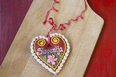 Tradycyjny Słoweński piernikowy serce zwany LECT Obrazy Royalty Free