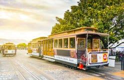 Tradycyjny San Fransisco wagon kolei linowej Obraz Stock