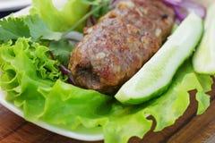Tradycyjny shish kebab od jagnięcego mięsa Zdjęcia Stock