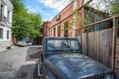 Tradycyjny stary balkon dom w Tbilisi Gruzja 07 05 2017 Zdjęcia Stock