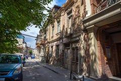 Tradycyjny stary balkon dom w Tbilisi Gruzja 07 05 2017 Obraz Royalty Free