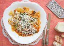 Tradycyjny Sycylijski naczynie: makaronu alla Norma Zdjęcia Stock