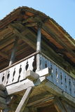 Tradycyjny szalunek pracy szczegół przy wiejskim domem zdjęcie stock