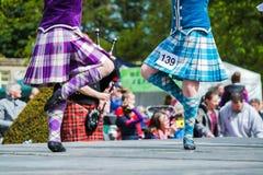 Tradycyjny szkocki Górski taniec Obraz Royalty Free