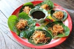 Tradycyjny Tajlandzki deser z koksem Fotografia Stock