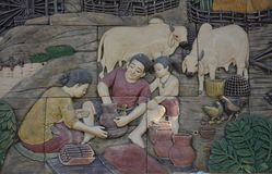 Tradycyjny Tajlandzki kultura artyzm Zdjęcie Stock