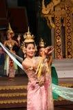Tradycyjny Tajlandzki przedstawienie w Nongnooch ogródzie w Pattaya, Tajlandia Zdjęcie Royalty Free