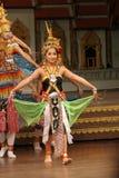Tradycyjny Tajlandzki przedstawienie w Nongnooch ogródzie w Pattaya, Tajlandia Obrazy Stock